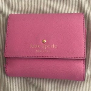 Kate spade small bi fold wallet in pink